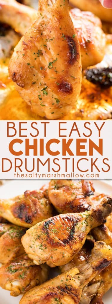 Easy Baked Chicken Drumsticks Recipe The Salty Marshmallow