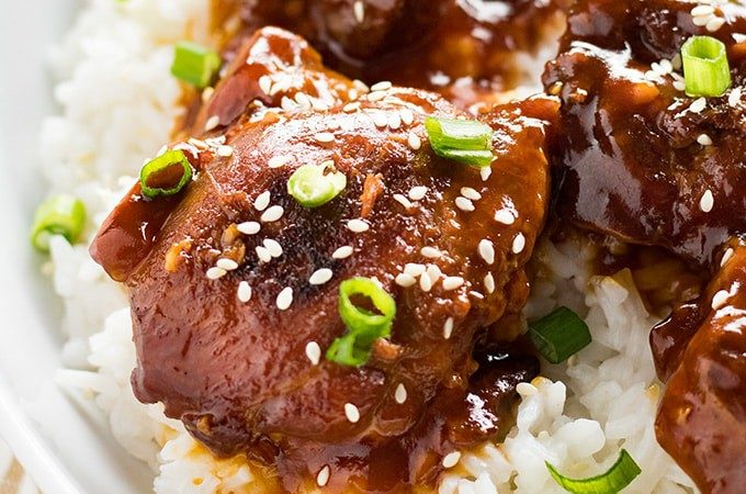 sesame chicken thighs instant pot