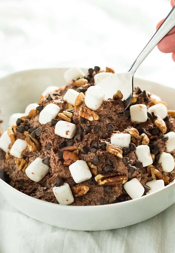 rocky road cheesecake fluff salad