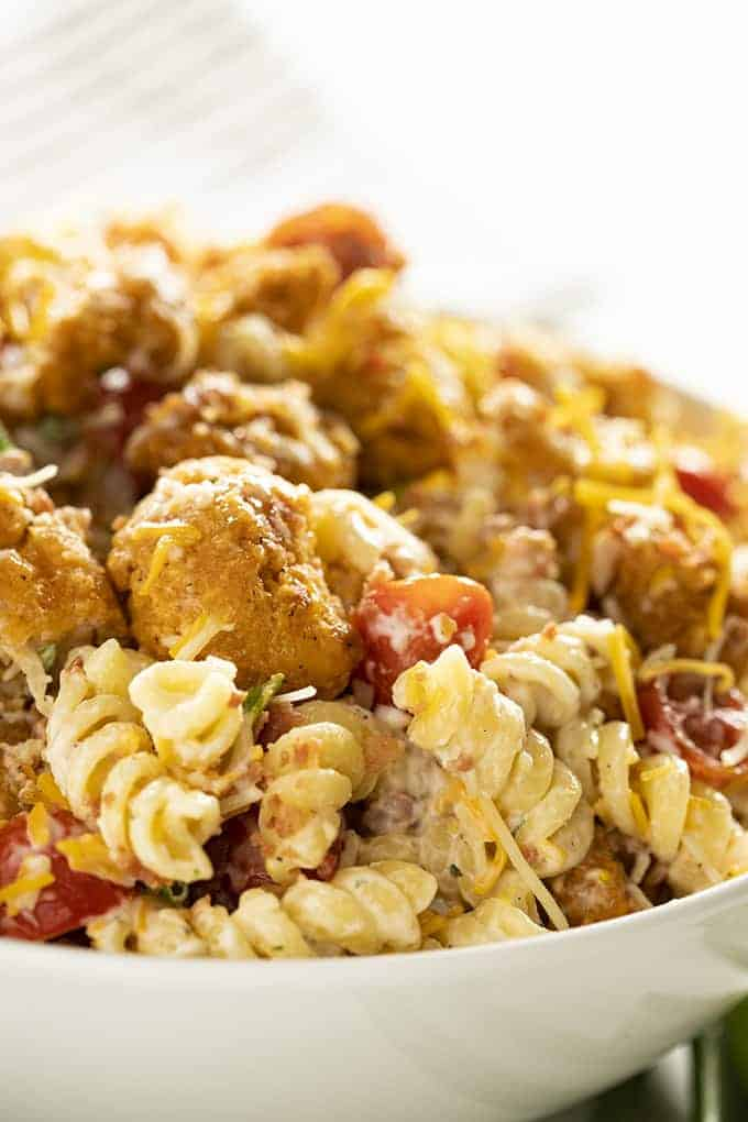 popcorn ranch chicken pasta salad