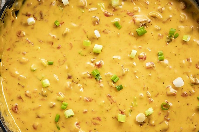 cheese dip with bacon