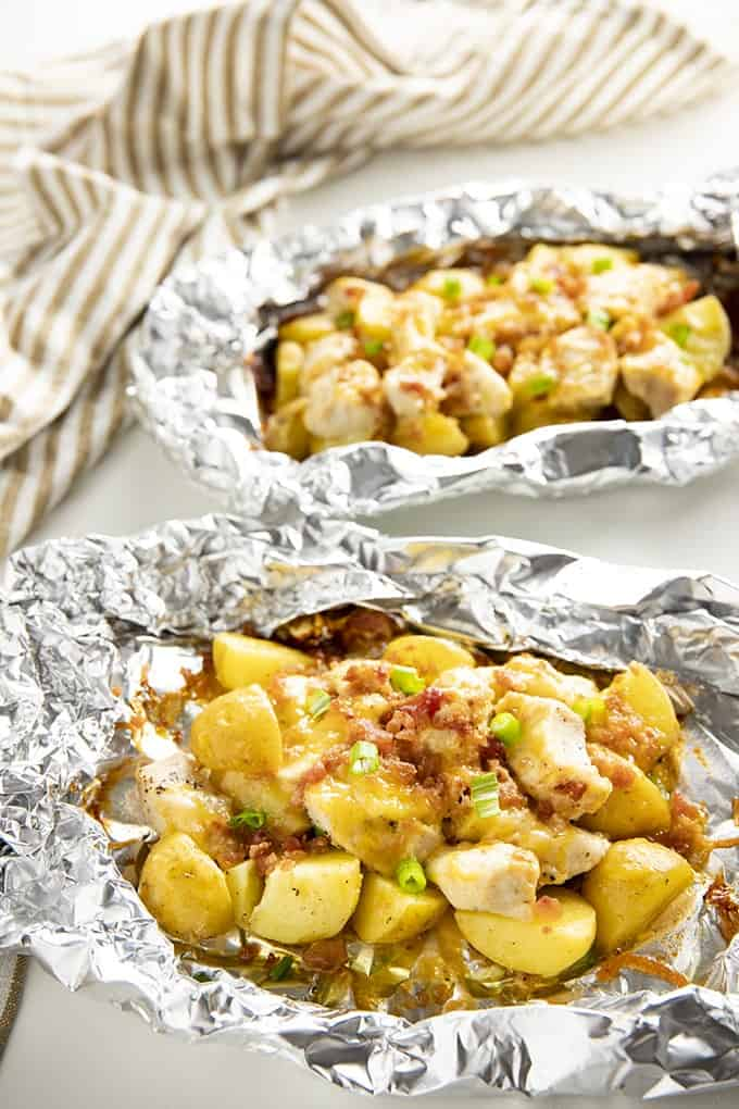 chicken foil packets bacon ranch potato