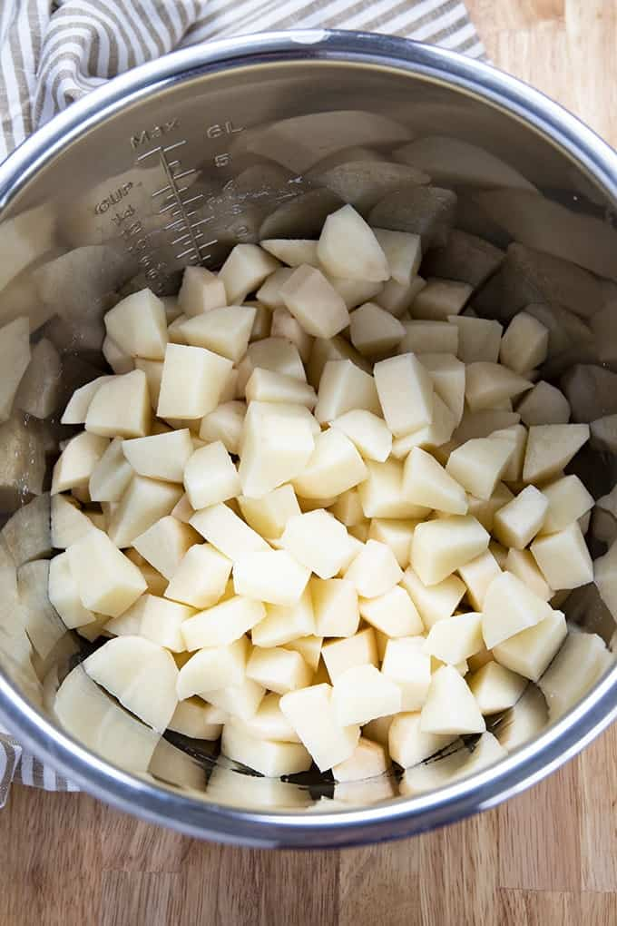 cubed potatoes in the instant pot