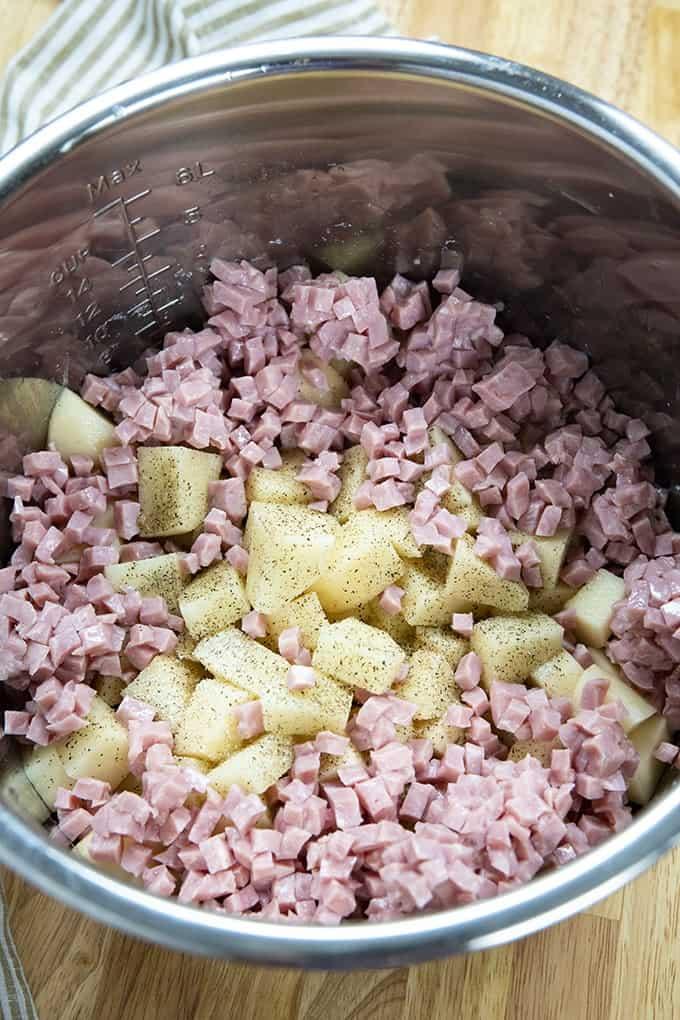 instant pot potato soup with ham