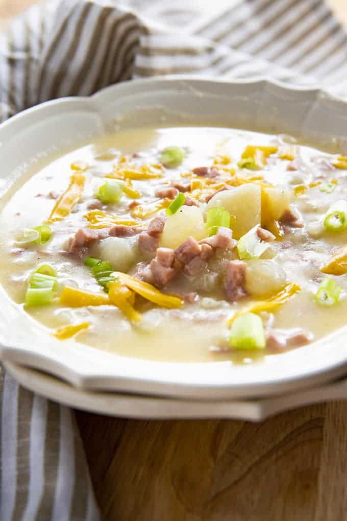 potato soup made in the instant pot