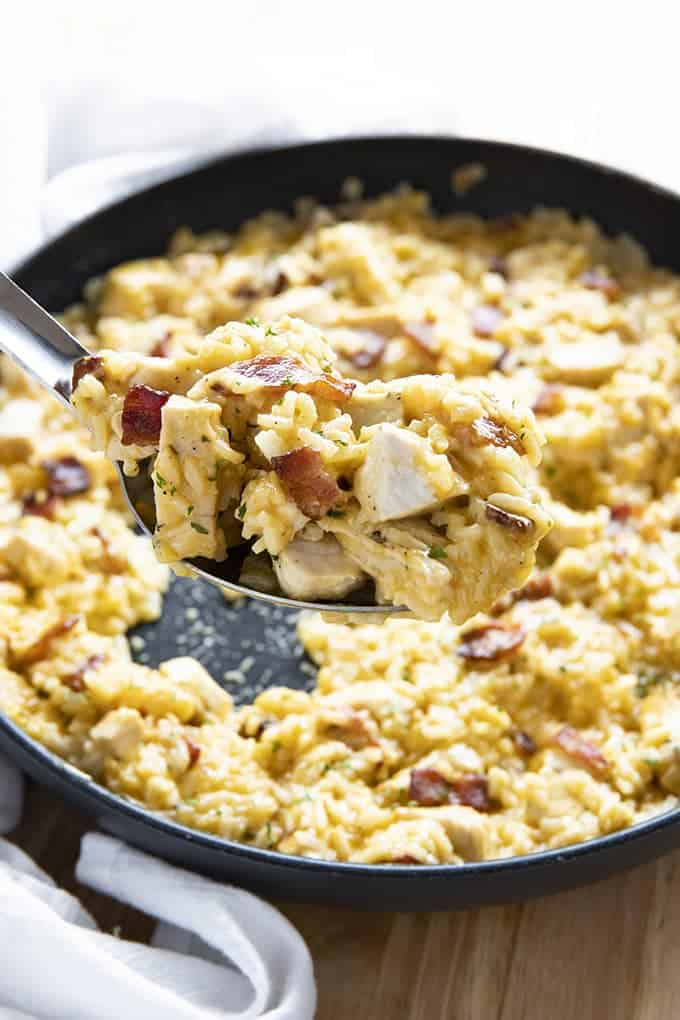 how to make chicken and rice with bacon and ranch