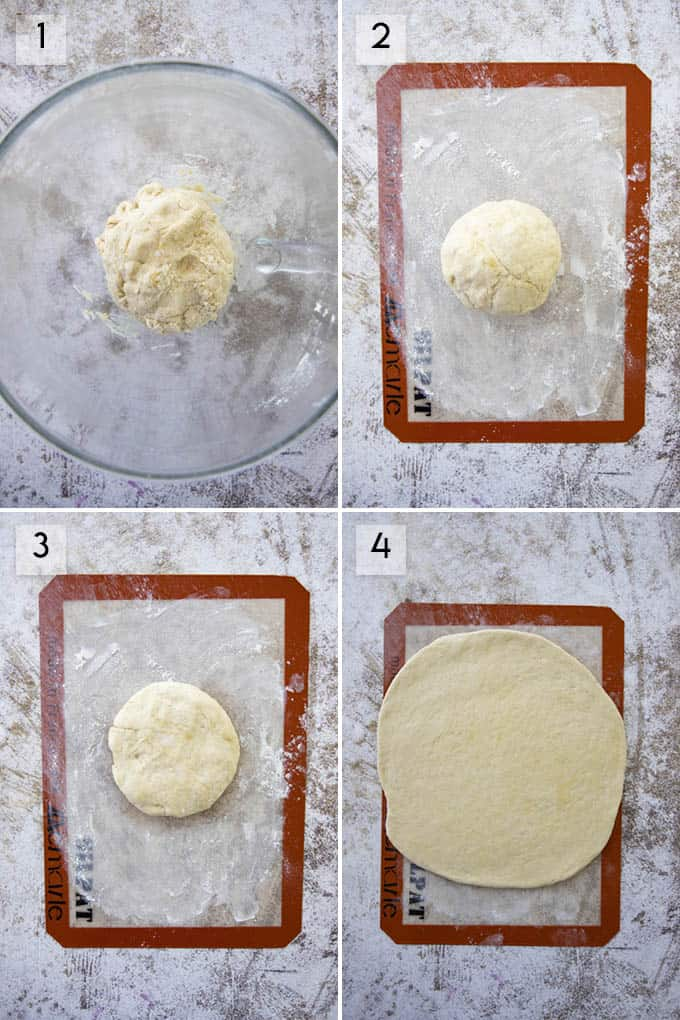 photo collage how to make and roll out pizza dough recipe