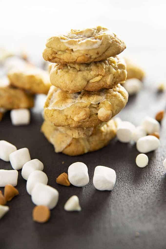 salty marshmallow potato chip cookies
