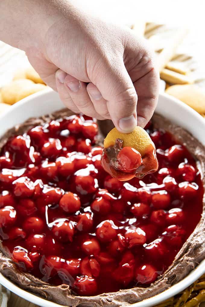 how to make cherry chocolate dip