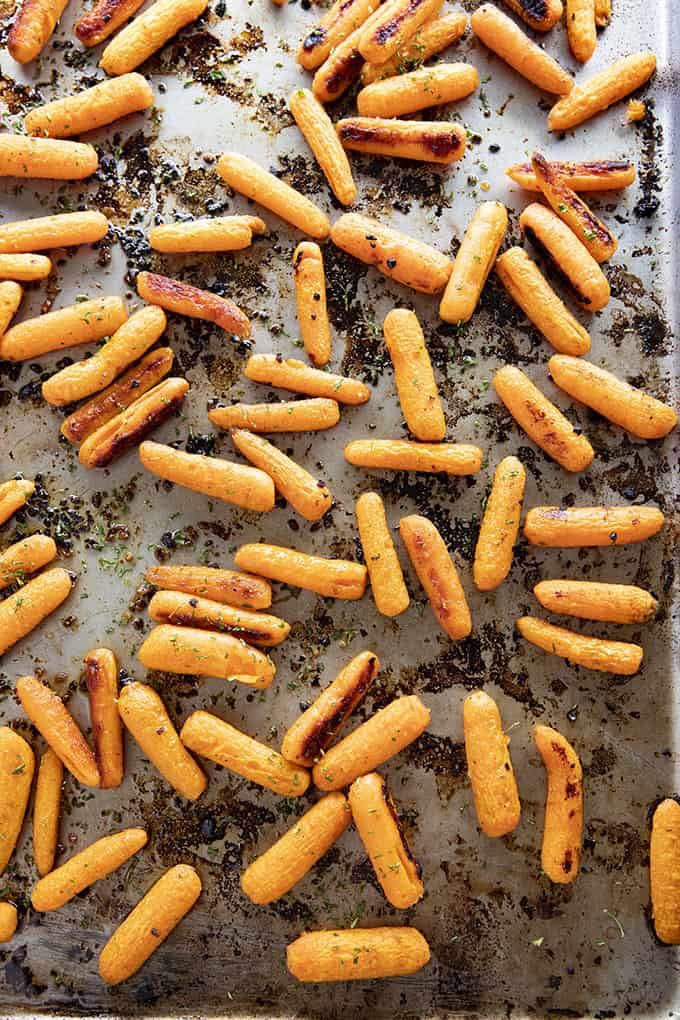 how to roast carrots in the oven on a sheet pan