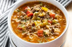 how to make stuffed pepper soup in an instant pot