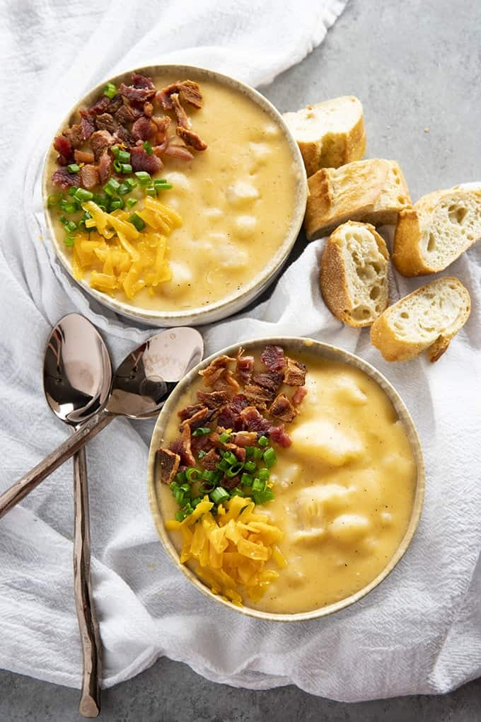 cheesy potato soup made in the crockpot