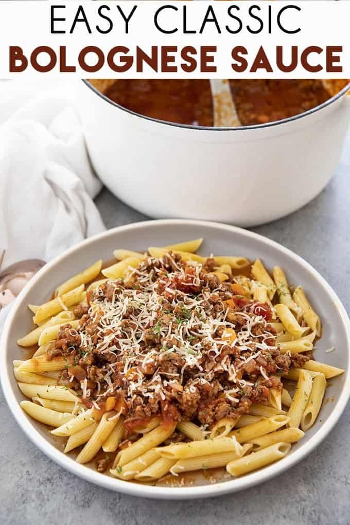 Easy Bolognese Sauce is a simple recipe for the classic, hearty, meat sauce we all love!  Learn how to make a flavorful bolognese in no time at all! #bolognese #bolognesesauce #easybolognesesauce #beefbolognesesauce
