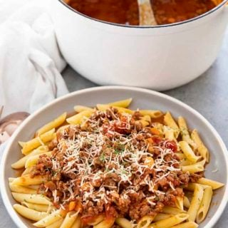 bolognese with pasta