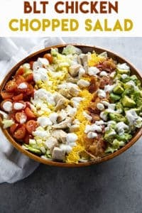 chopped salad with tomato bacon and chicken