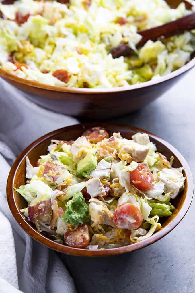 chopped blt salad with chicken