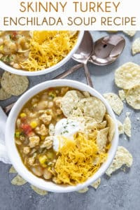 skinny turkey enchilada soup recipe