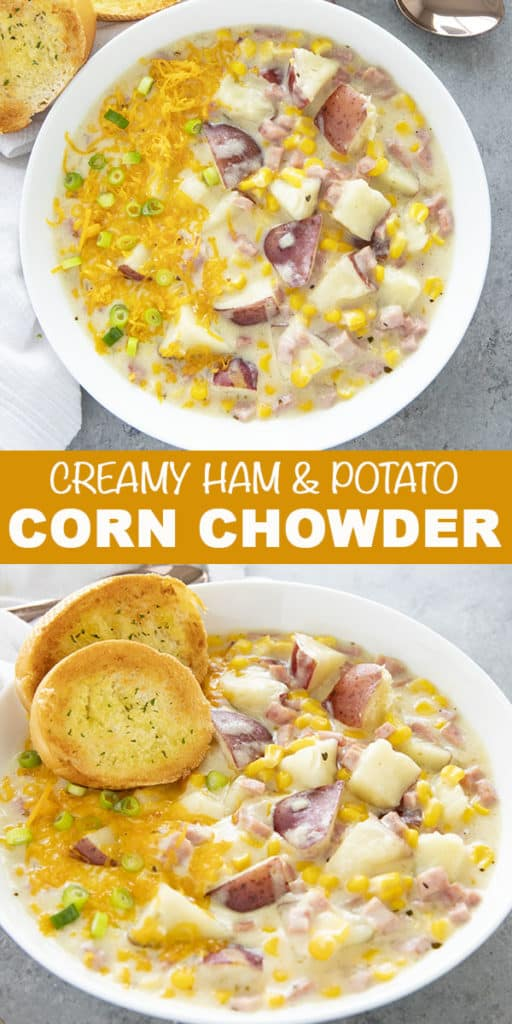 Best Creamy Corn Chowder is easy to make on your stove-top or instant pot! This flavorful and cozy chowder recipe is filling, comforting, and easy to make!