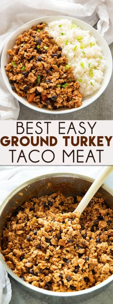 Ground Turkey Taco Meat is a simple but flavor-packedrecipe that is ready to eat in 15 minutes or less! You'll love the tender turkey meat full of taco seasoning, lime, and salsa!