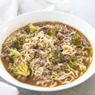 ramen soup in a bowl