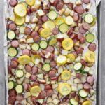 sausage potatoes and squash sheet pan