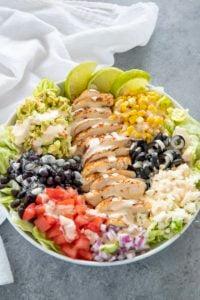 al fresco salad in a bowl