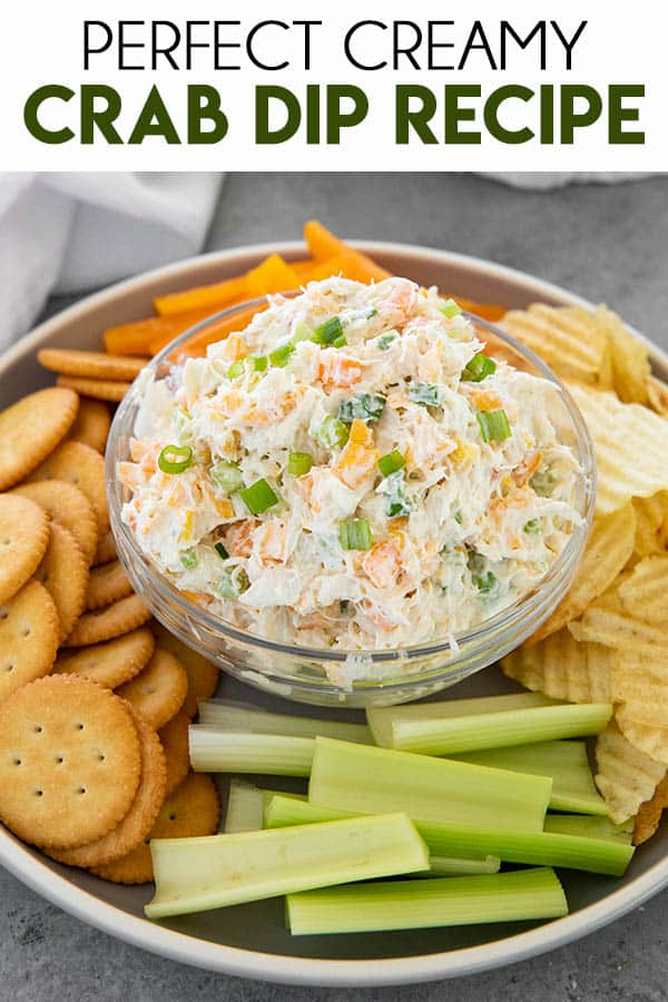Best Crab Dip is creamy, cheesy, and packed full of so much flavor!  This dip recipe can be served hot or cold and is always a crowd favorite!