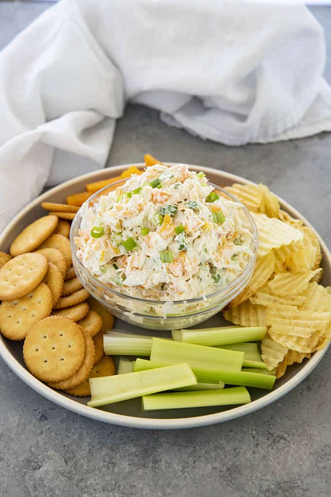 crab dip in a bowl
