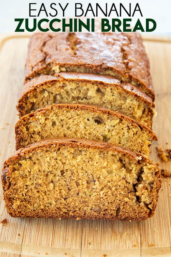 Perfect Zucchini Bread is incredibly moist and tender, and so easy to make!  This bread has the addition of bananas, brown sugar, and cinnamon for the best flavor! #zucchinibread