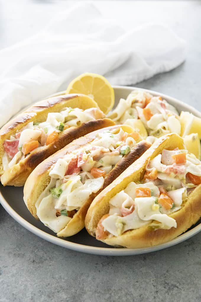 crab salad in buns