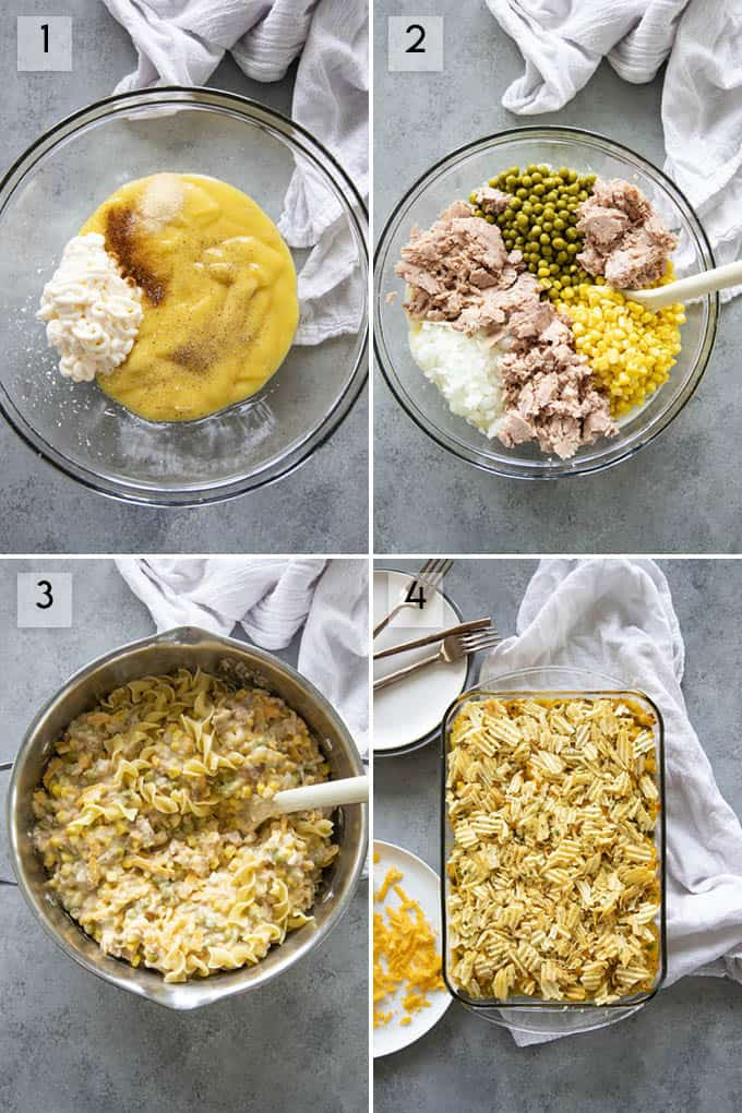 step by step photos how to make tuna casserole