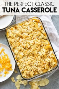 tuna casserole recipe pinterest image
