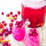two glasses of dragon fruit sangria