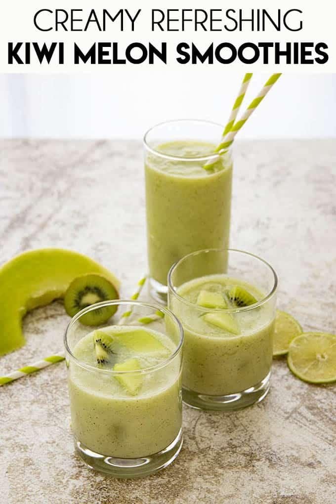 Kiwi melon smoothies image for pinterest