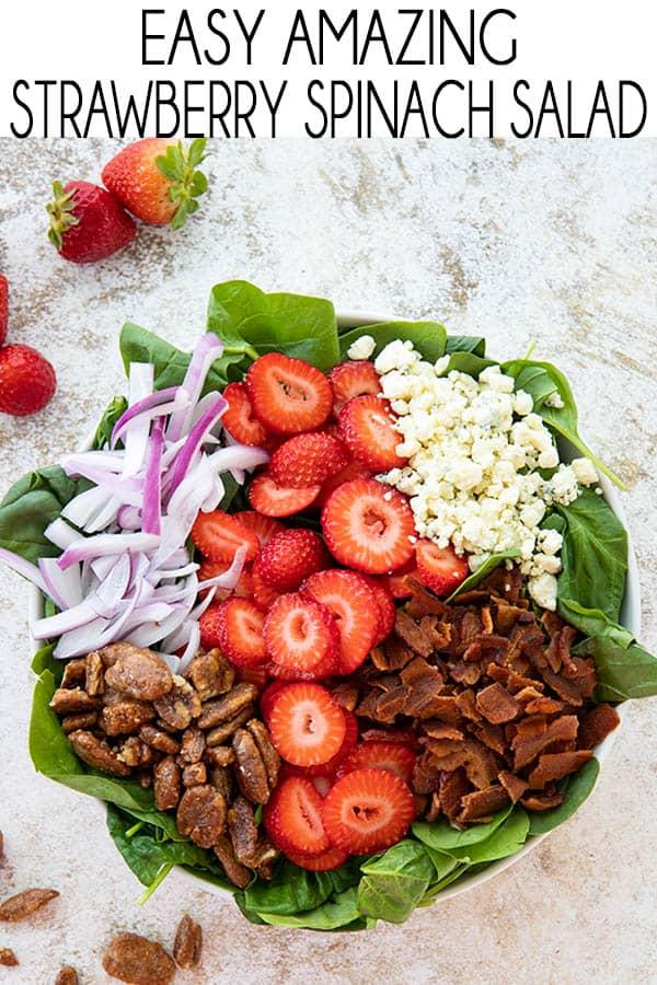 spinach salad Pinterest image