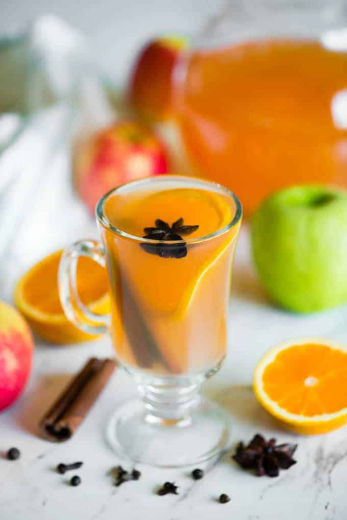 homemade apple cider from fresh apples