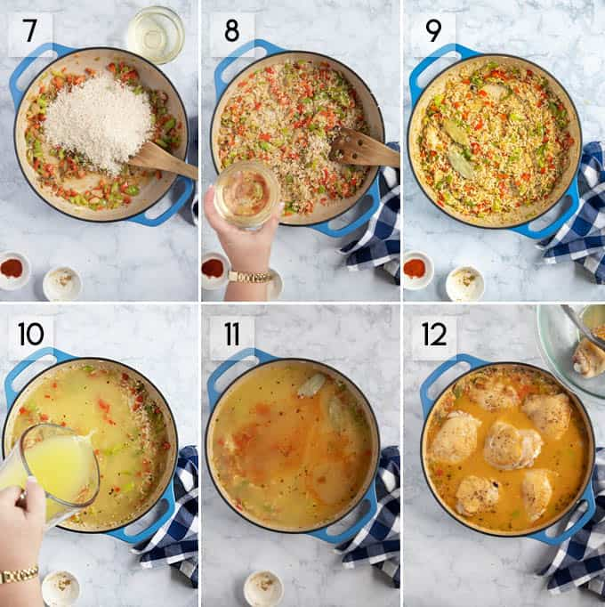 arroz con pollo step by step instructions 6-12