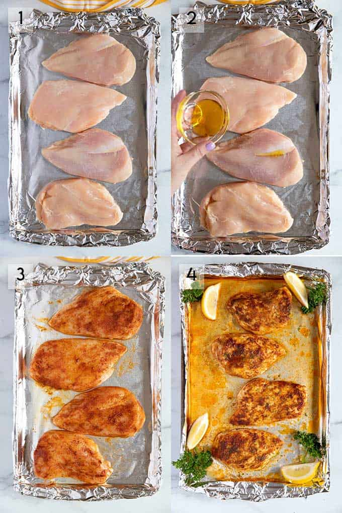 How To Bake Chicken Breast Step By Step Photos.