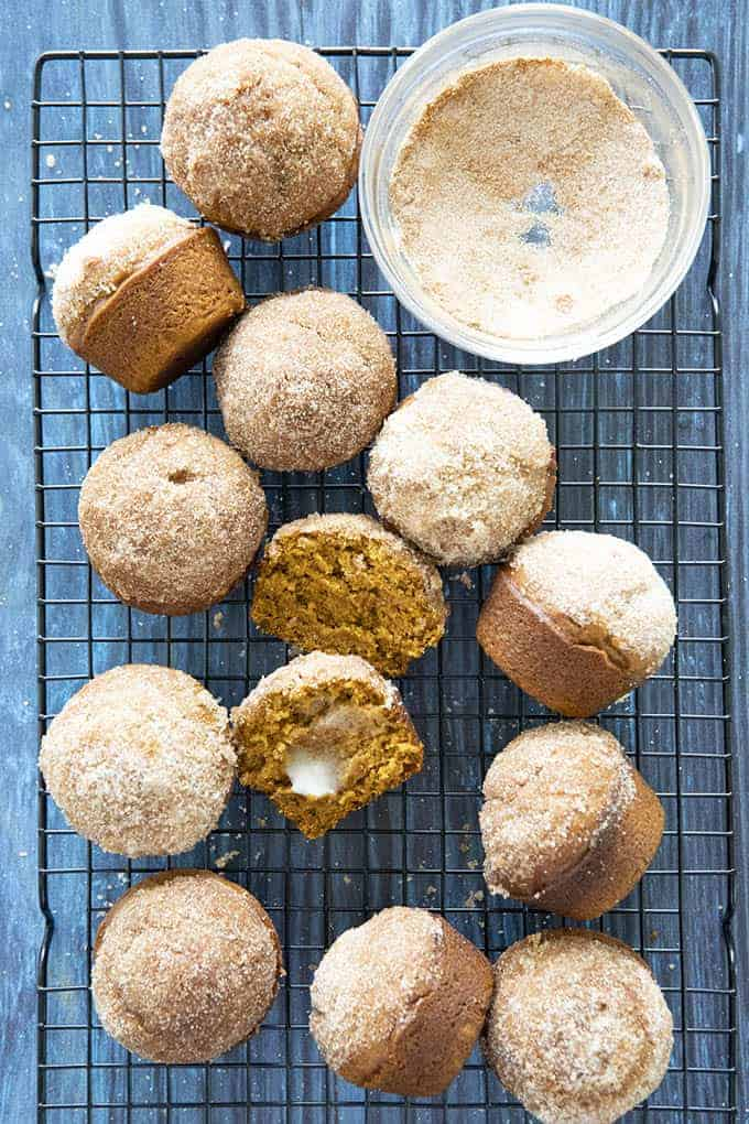 cinnamon sugar pumpkin muffins, pumpkin recipes