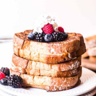 White plate with stuffed french toast