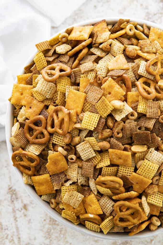 chex mix recipe in a bowl