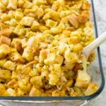 stuffing recipe in pan