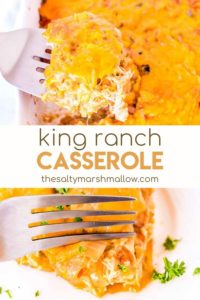 pinterest image of king ranch casserole