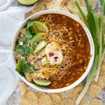 enchilada soup in bowl