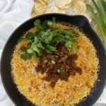 queso fundido recipe in cast iron skillet