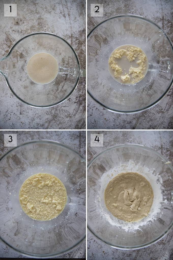 how to make cinnamon rolls collage one