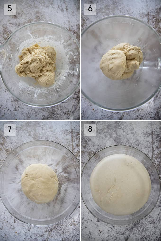 how to make cinnamon rolls photo collage 2