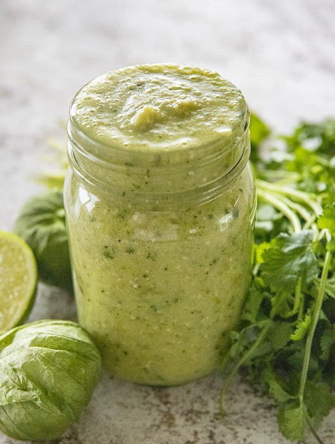 jar of salsa verde