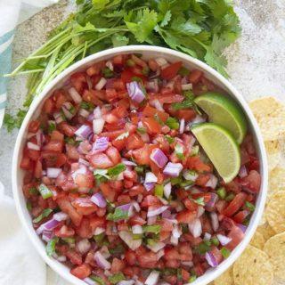 bowl of pico de gallo