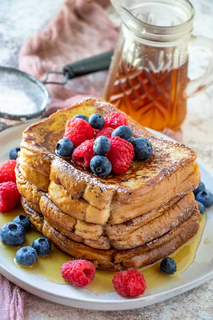 stuffed french toast on a plate